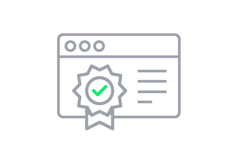 Licenses and certificates for ads