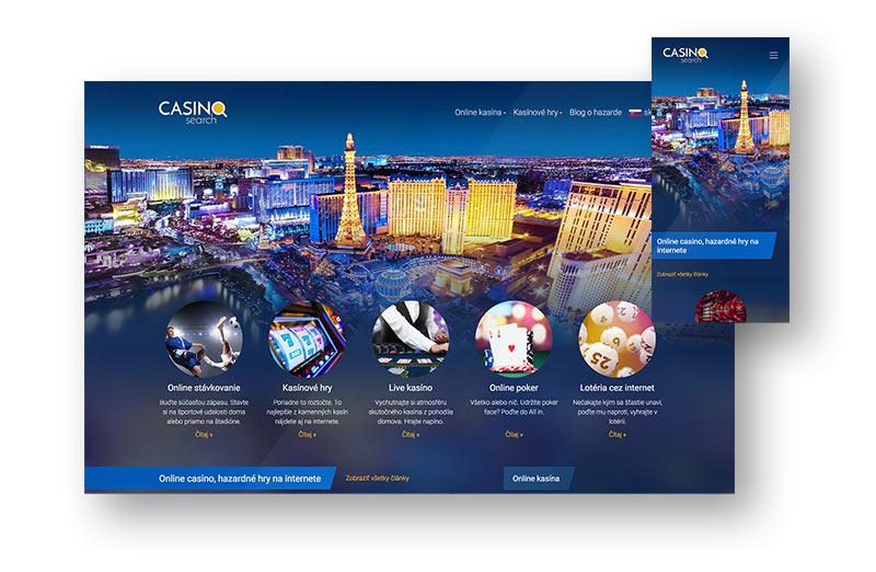 Webdesign stránky CasinoSearch