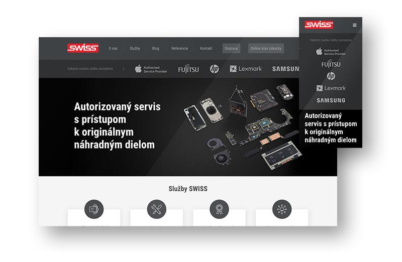 Webdizajn a tvorba webu pre SWISS